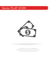 money icon for web business finance and vector image vector image