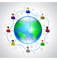 Network people concept with globe vector image
