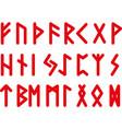 old viking alphabet vector image