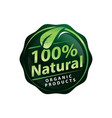 one percent natural sign vector image vector image