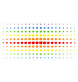 piggy bank spectral halftone grid vector image vector image