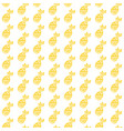 pineapple fruit brush seamless pattern vector image vector image