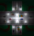 road bridge at night vector image vector image