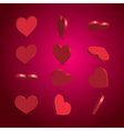 rotated hearts set vector image vector image