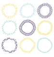 Set of decorative circle frames vector image vector image