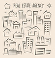 set of houses for logos vector image