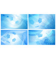 soccer backgrounds in light blue colors vector image vector image