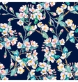 Spring patternFlowering branches Watercolor vector image vector image
