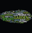 the must have list of lawn and garden products vector image vector image
