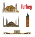 turkey historic architecture buildings vector image