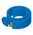 usb bracelet icon isometric style vector image vector image