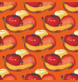 watercolor seamless pattern with apples oranges vector image
