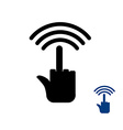 Wi fi Wireless transmission for bullies vector image vector image