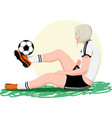 woman playing soccer vector image