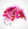 woman silhouette abstract hair vector image vector image