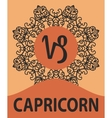 Zodiac sign Capricorn of vector image