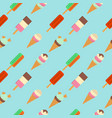 pattern of ice cream flat vector image
