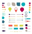 Set of elements markers arrows and dividers for vector image