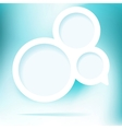 Abstract speech cloud of color bubbles EPS8 vector image