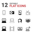 12 screen icons vector image vector image