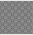 Abstract circle monochrome seamless texture vector image