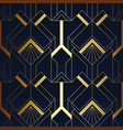 abstract geometric pattern luxury dark blue with vector image vector image
