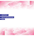 abstract template pink low poly trendy white vector image