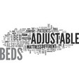 adjustable beds not just for hospitals text word vector image vector image