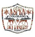 Aspen ski resort vector image vector image