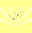 birds against the sun vector image vector image