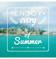 blurred summer landscape background with vector image vector image