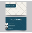 Business card template black and white pattern vector image vector image