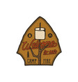 Campsite logo emblem vintage hand drawn travel