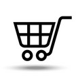 cart icon isolated on white background vector image