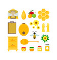 cartoon honey color set vector image vector image