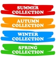 Collections banners vector image