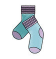 colored crayon silhouette of pair of socks vector image vector image