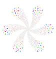 confetti stars spiral fireworks vector image vector image