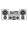 contour monochrome with sound system stereo vector image vector image
