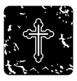 Cross icon grunge style vector image
