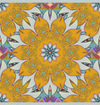elegance seamless pattern with ethnic flowers on vector image vector image