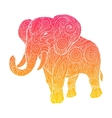 Elephant ornament ethnic vector image vector image