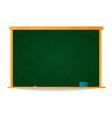 empty green school chalkboard in wooden frame vector image vector image
