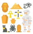 Flat design mummy item set vector image vector image