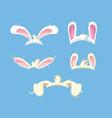funny bunny ears set vector image