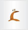 giraffe logo icon element symbol vector image vector image