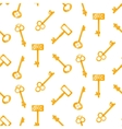 Gold keys seamless pattern on white Retro vector image vector image