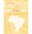 greetings from brazil vector image vector image
