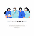 group male and female doctors and nurses vector image vector image