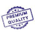 grunge textured premium quality stamp seal vector image